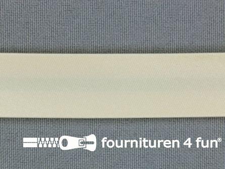 Rol 25 meter satijnen biasband 18mm zalm-ecru