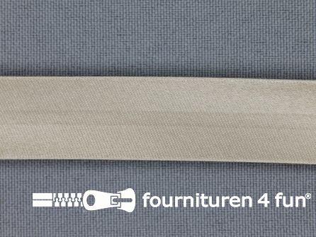 Satijnen biasband 18mm zandbeige