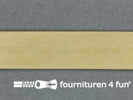 Satijnen biasband 18mm beige