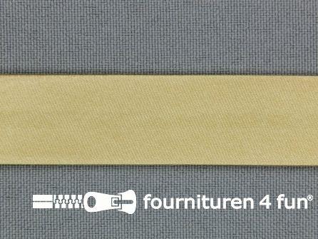 Rol 25 meter satijnen biasband 18mm beige