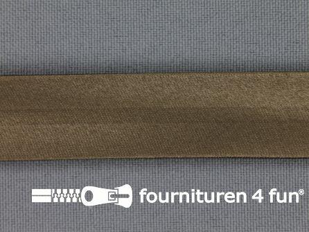 Satijnen biasband 18mm lever bruin