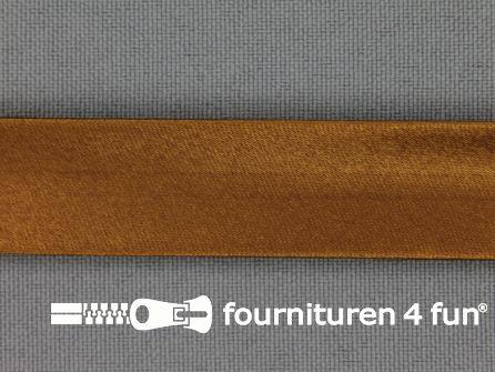 Satijnen biasband 18mm kaneel bruin