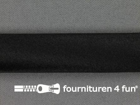 Satijnen biasband 18mm zwart