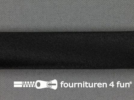 Rol 25 meter satijnen biasband 18mm zwart