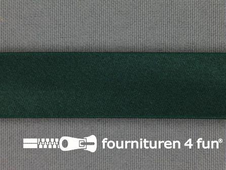 Rol 25 meter satijnen biasband 18mm donker groen