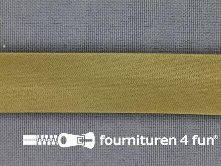 Satijnen biasband 18mm olijf groen