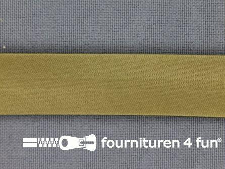 Rol 25 meter satijnen biasband 18mm olijf groen