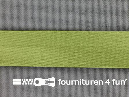 Satijnen biasband 18mm safari groen