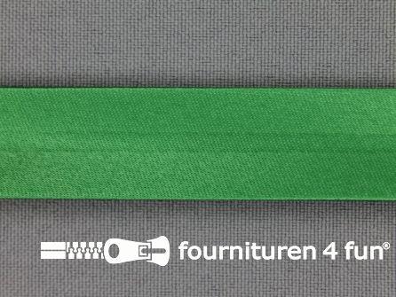 Rol 25 meter satijnen biasband 18mm emerald groen