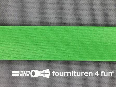 Satijnen biasband 18mm gras groen