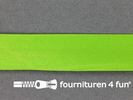 Satijnen biasband 18mm lime groen