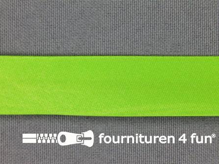 Rol 25 meter satijnen biasband 18mm lime groen