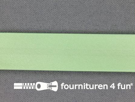 Satijnen biasband 18mm pistache groen