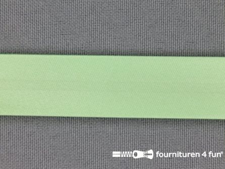 Rol 25 meter satijnen biasband 18mm pistache groen