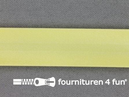 Satijnen biasband 18mm licht geel