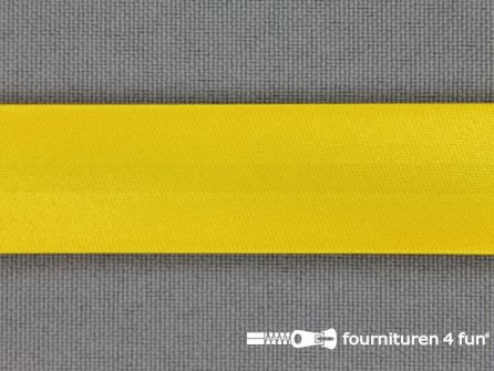 Satijnen biasband 18mm mais geel