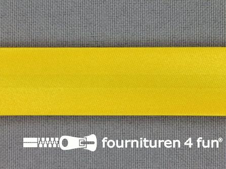 Rol 25 meter satijnen biasband 18mm mais geel