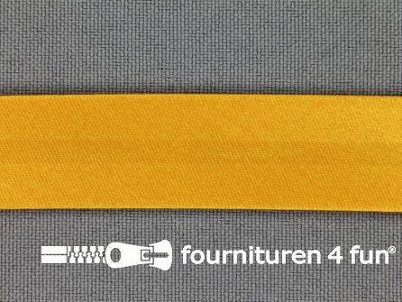 Satijnen biasband 18mm honing geel