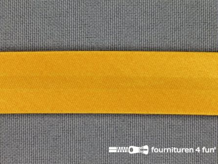 Rol 25 meter satijnen biasband 18mm honing geel