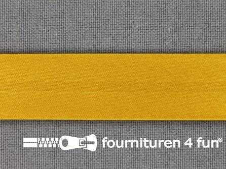 Satijnen biasband 18mm mosterd