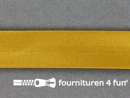 Satijnen biasband 18mm oker geel