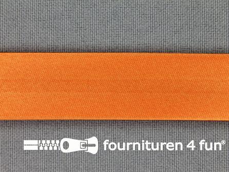 Satijnen biasband 18mm oranje