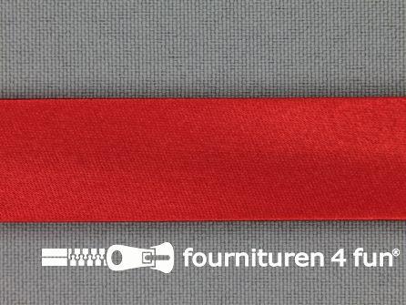Satijnen biasband 18mm rood