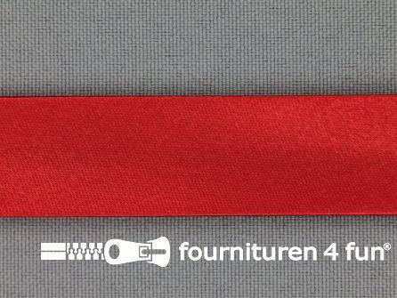Rol 25 meter satijnen biasband 18mm rood