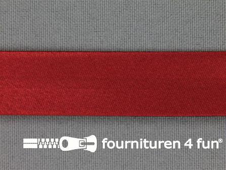 Satijnen biasband 18mm donker rood