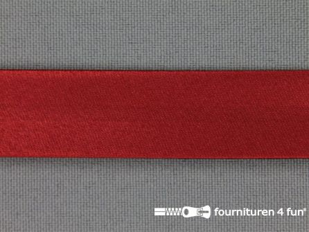 Rol 25 meter satijnen biasband 18mm donker rood