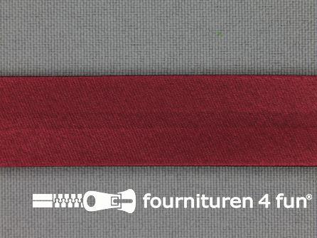 Satijnen biasband 18mm  bordeaux