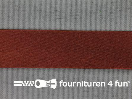 Satijnen biasband 18mm brons bruin