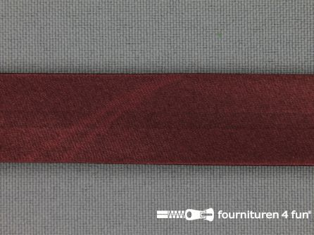 Satijnen biasband 18mm donker bordeaux