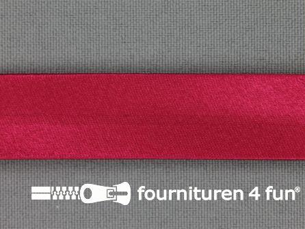 Satijnen biasband 18mm donker fuchsia