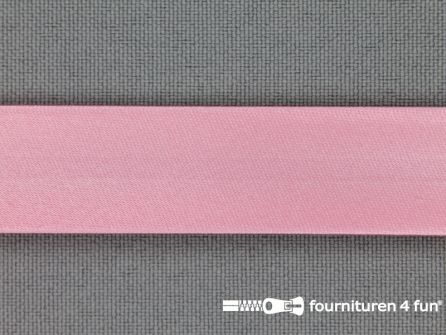 Satijnen biasband 18mm barbie roze