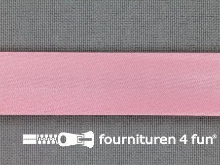 Rol 25 meter satijnen biasband 18mm barbie roze