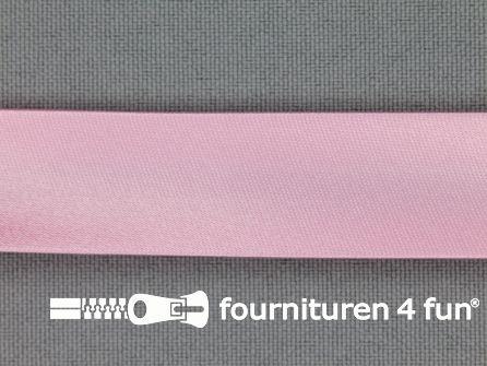 Satijnen biasband 18mm licht roze