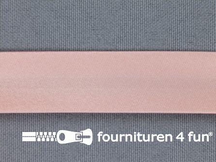 Satijnen biasband 18mm zalm roze