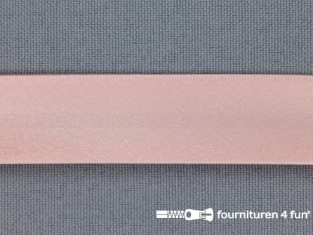 Rol 25 meter satijnen biasband 18mm zalm roze