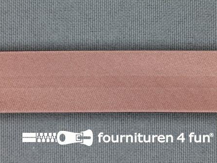 Satijnen biasband 18mm antique roze