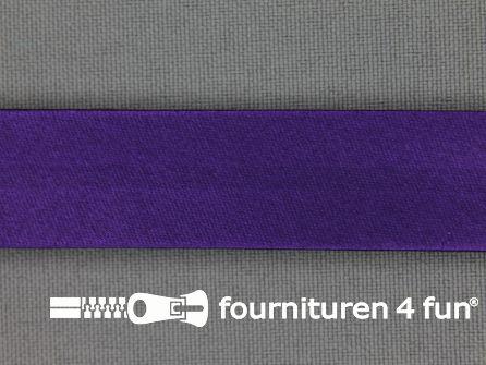 Satijnen biasband 18mm paars