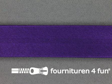 Rol 25 meter satijnen biasband 18mm paars