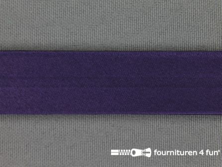 Satijnen biasband 18mm donker paars