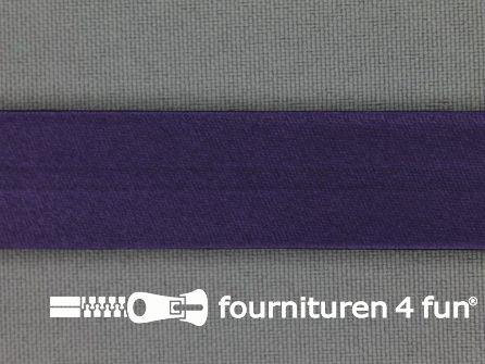Rol 25 meter satijnen biasband 18mm donker paars