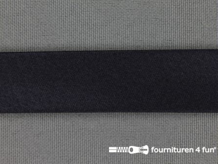 Satijnen biasband 18mm donker(ste) blauw