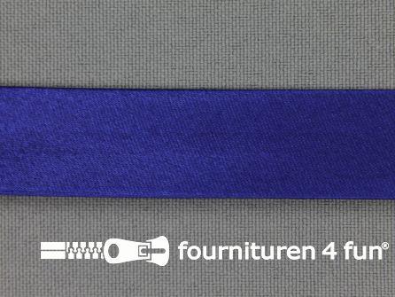 Satijnen biasband 18mm kobalt blauw