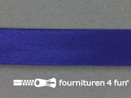 Rol 25 meter satijnen biasband 18mm kobalt blauw