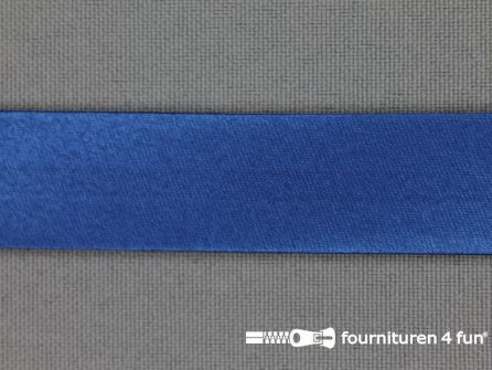 Satijnen biasband 18mm helder blauw