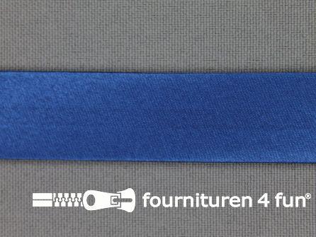 Rol 25 meter satijnen biasband 18mm helder blauw