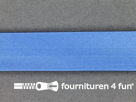 Satijnen biasband 18mm hemels blauw
